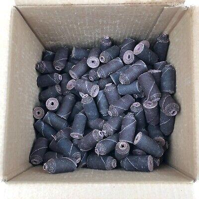 Lot Of 267 Straight W Spiral Top Taper Cartridge Rolls 1 X 2 X 1 100 Grit