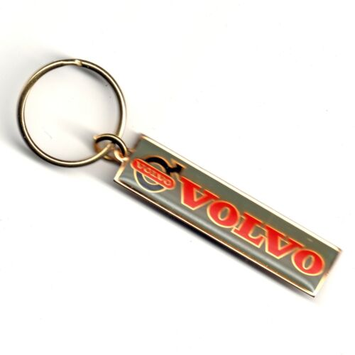 Vintage 1970s VOLVO Brass Keychain Keyring FACTORY SEALED NOS IOP