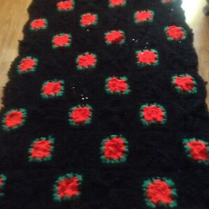 CROCHETED BED COVER for single bed