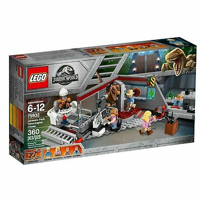 LEGO Jurassic Park World- 75932 Velociraptor Chase -New Sealed Raptor Alan Grant