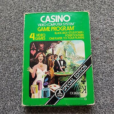 Atari 2600 VCS Casino Boxed and working
