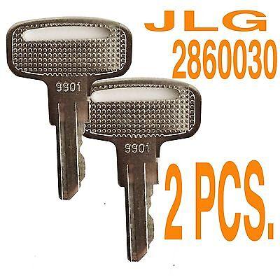 Jlg 2860030 Keys - 9901 Key 2 Pcs. 1 Pair E2e60033rts Scissor - Boom