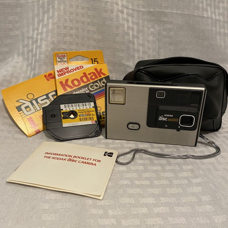 Kodak 4000 Disc Vintage Camera In Good Condition With Unopened Discs Case Manual
