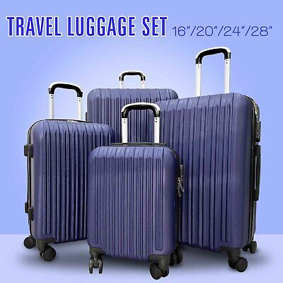 Set of 4 Travel Luggage Set Spinner Bag Suitcase w/Lock 16