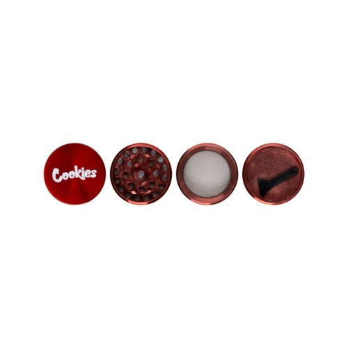 """Red Cookies Grinder 1.57"""" (40mm) 4 layers with plastic scooper"""
