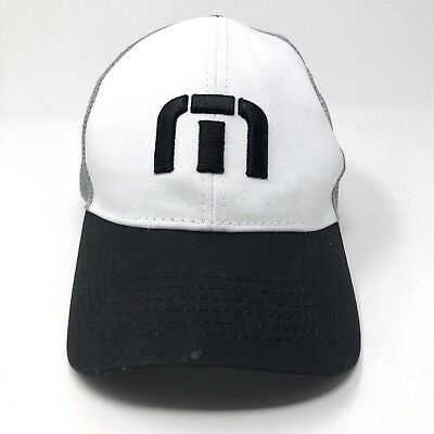 wholesale dealer 995eb 54723 TRAVIS MATHEW Hat Golfing Gray White and Black Snapback Promo TravisMathew  Cap