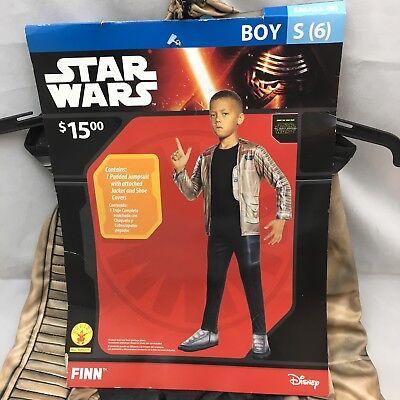 Star Wars Finn Halloween Costume New Rubies Boys Child Small Sz 6 Disney