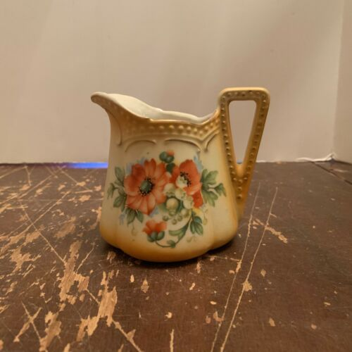 Antique Porcelain Creamer Flower Pattern Made In Austria
