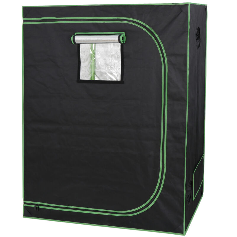Hydroponic Grow Tent with Observation Window and Floor Tray Plant Growing  2