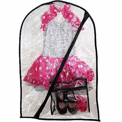 Dance Costume Bag + Mini Bag - Children's Garment Bag for Dance - Clear