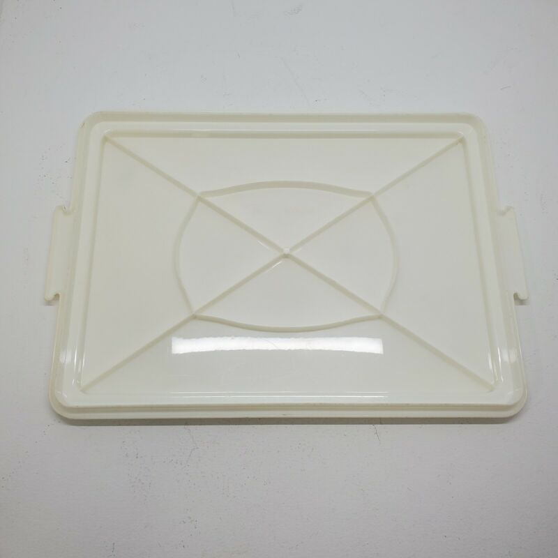 Tupperware Rectangle 622 Cake Carrier Holder lid only replacement almond