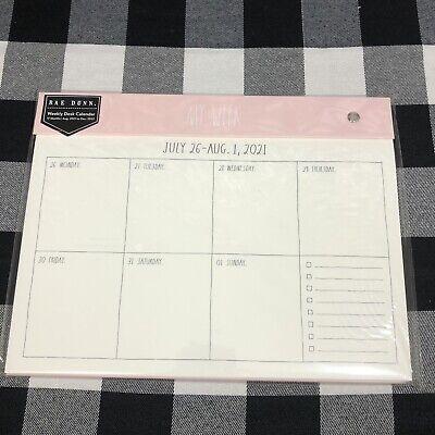 Rae Dunn Weekly Planner Desk Calendar 17 Month July 2021 - Dec 2022 Farmhouse
