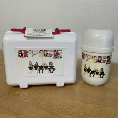 Rare Spice Girls White Lunch Box with White Thermos-New from