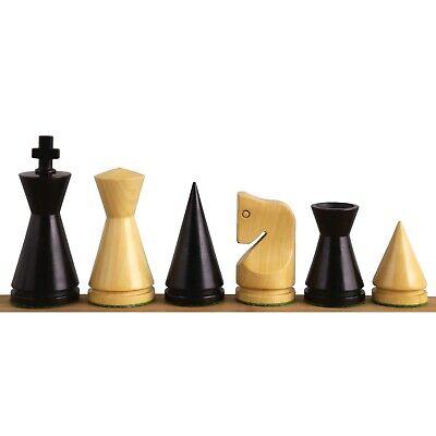 3,1 russische Poni minimalistische Schachfiguren Nur Setebonisierter Buchsbaum