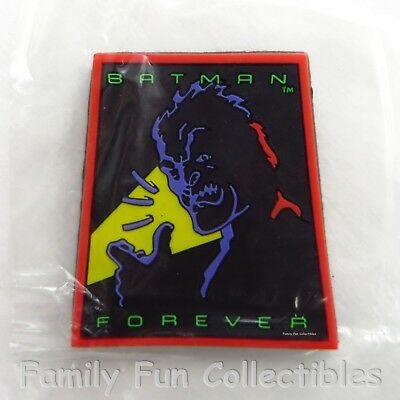 DC COMICS~1995 Applause~Fridge Magnet~Two Face~Batman Forever Figure~NEW MIBag](Magnetic Face Toy)
