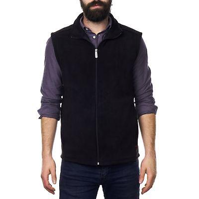 ethan mens full zip up fleece vest