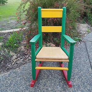 Children's Wooden Solid Rocking Chair Karrinyup Stirling Area Preview