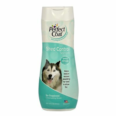 Perfect Coat Shed Control Shampoo for Dogs 16-Ounce