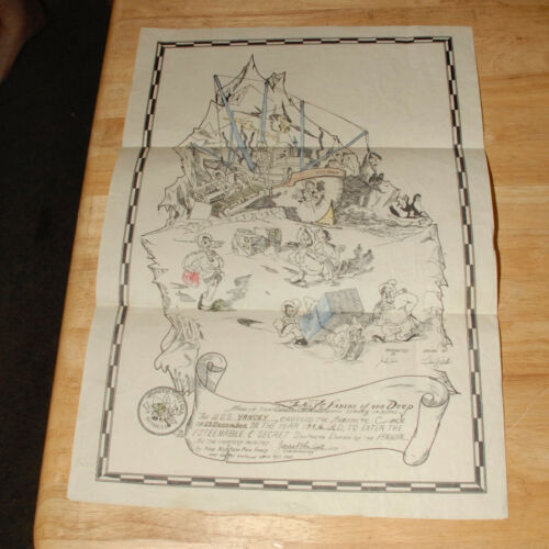 OPERATION HIGHJUMP ANTARCTICA CROSSING CERTIFICATE 1946 USS YANCEY ADMIRAL BYRD