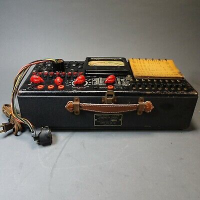 Us Army Combination Tube Tester 104 Us Army Signal Corps Usa Wwii Military