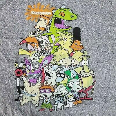 Nickelodeon Men's 2XL T-Shirt Licensed Cartoon Characters Nick Jr - Nick Jr Characters