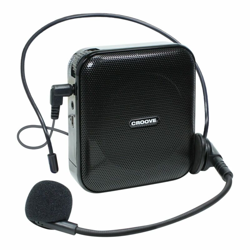 Voice Amplifier Portable Rechargeable Microphone Headset & Belt Clip