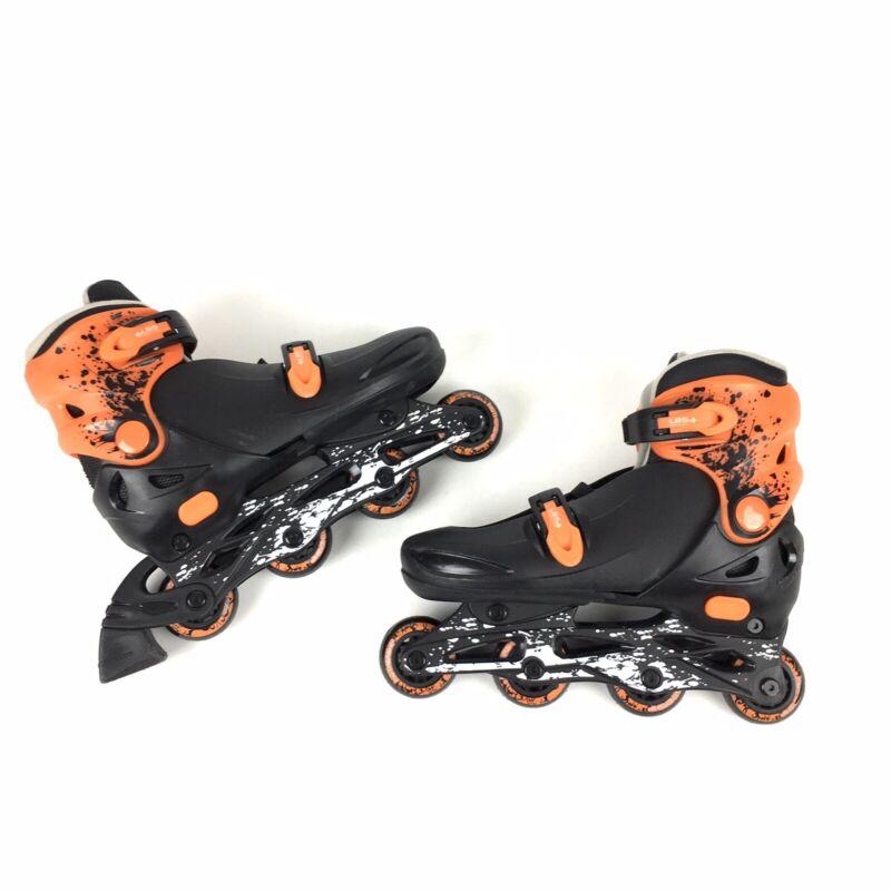 Ozone 500 Youth Rollerblades Black Orange Sz 3-6