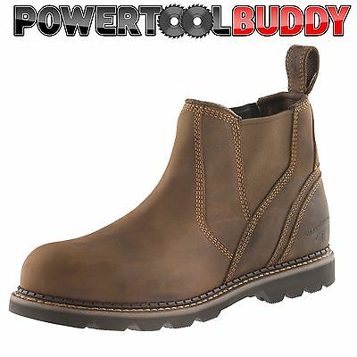 13 Crazy Horse (Buckler B1555SM Waxed Brown Crazy Horse leather safety dealer boot  Size 6 - 13)