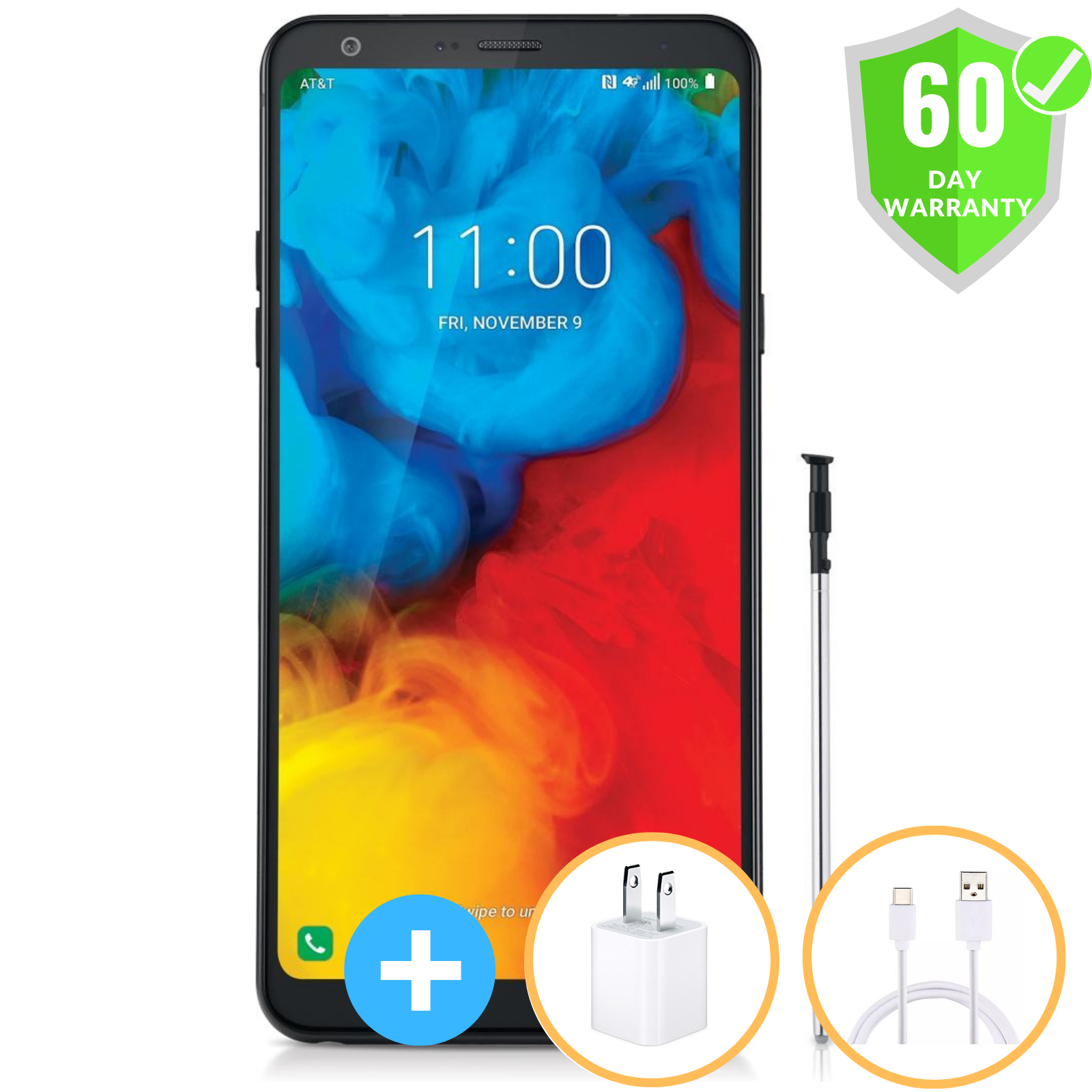 Android Phone - LG Stylo 4 Plus Q710WA | GSM Factory Unlocked | ATT T-Mobile | 32GB | Excellent