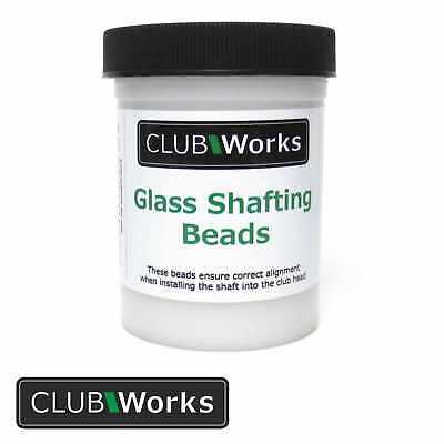 Real glass golf club shafting beads / Glass beads - 4 oz Tub (112 grams)