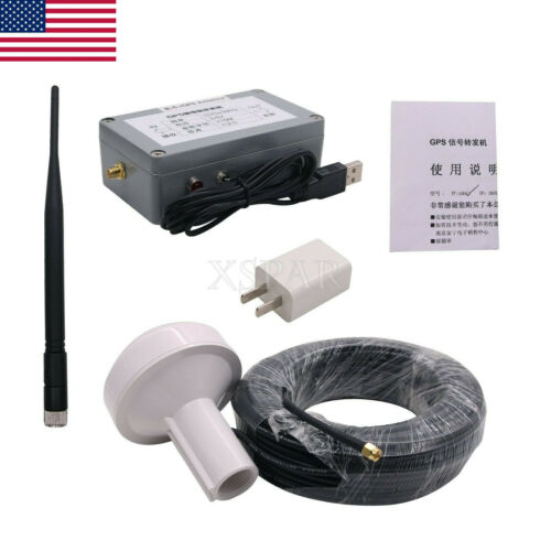 Indoor GPS Signal Repeater Amplifier Transfer L1 BD2 Full Kit 15M Distance US-A