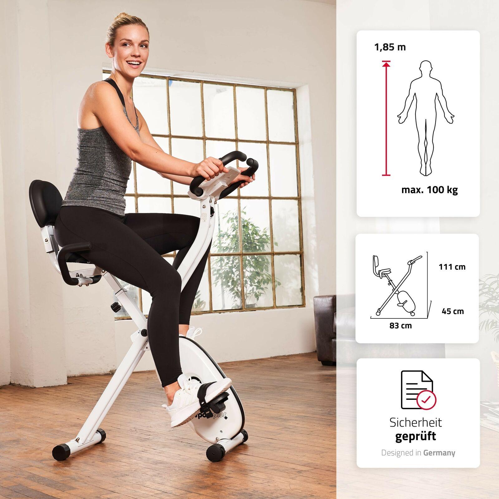 SportPlus X-Bike Heimtrainer Trimmrad Ergometer Fitnessbike Indoor Bike klappbar