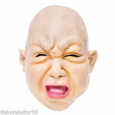 Halloween Mask Scary Baby Fat Face Creepy Child Fancy Dress Costume
