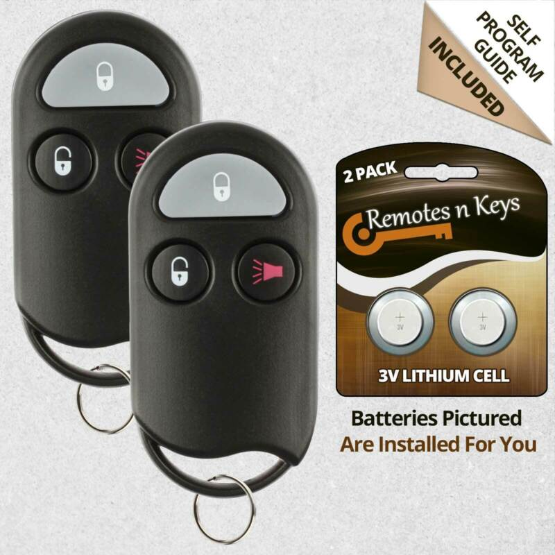 2x Car Transmitter Alarm Remote Control for 1998 1999 2000 Nissan Frontier Horn