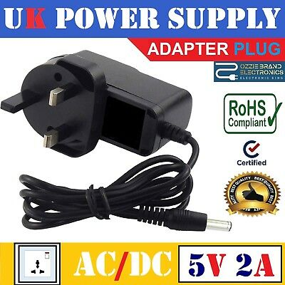 To Fit YDT-AC-005 IPTV Set Top Box MAG250 Power Supply Adapter Plug 5V AC DC UK segunda mano  Embacar hacia Mexico