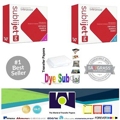 Sawgrass Sublimation Ink Cyan Magenta Cartridges For Sg400sg800 Free Paper