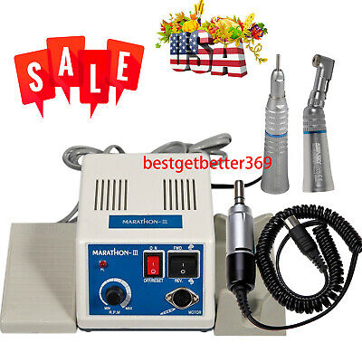 New Dental Lab Marathon Electric Micromotor 35k Rpm Handpiece Polishing Unit