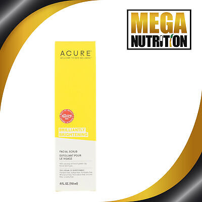 Acure Brilliantly Brillo Exfoliante Facial 118ML Espinillas Poros Limpiador
