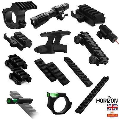 Tactical Rifle Hunting Scope Mount Adapter 20mm Weaver Picatinny Rail Airsoft UK (Scope Airsoft)