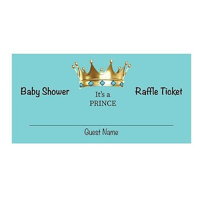 24 Baby Shower Diaper Raffle Ticket - It's A Prince Boy - Baby Shower Diaper Raffle