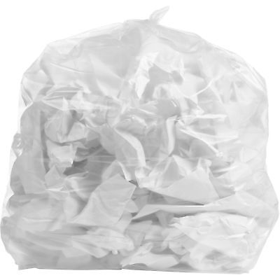 PlasticMill 42 Gallon, Clear, 1.3 MIL, 33x48, 100 Bags/Case, Garbage Bags.