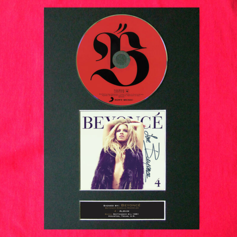Details about BEYONCE 4 Album Signed CD COVER MOUNTED Autograph Re-Print A4  210 x 297mm (1)