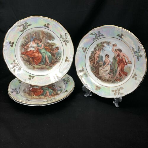 Kahla China Antique Madonna Plate & Ladies Plates German Democratic Republic