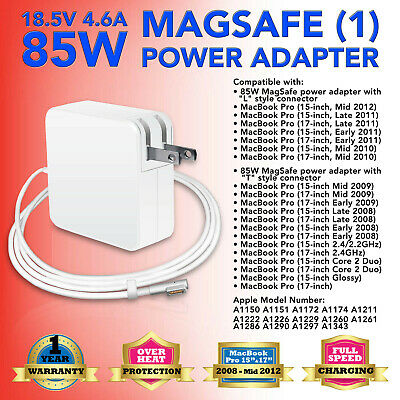 """85W AC Adapter Power Supply Charger for MacBook Pro 15"""" 17"""" A1286 A1343 A1172 US"""