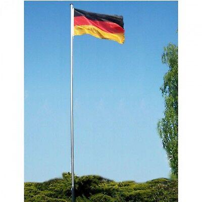 Alu Fahnenmast inkl Deutschlandfahne 6m Mast mit Flagge Flaggenmast Fahnenstange