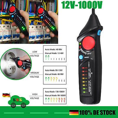 12-1000V Digital Spannungsprüfer Elektrischer Spannungstester Berührungslose NEU