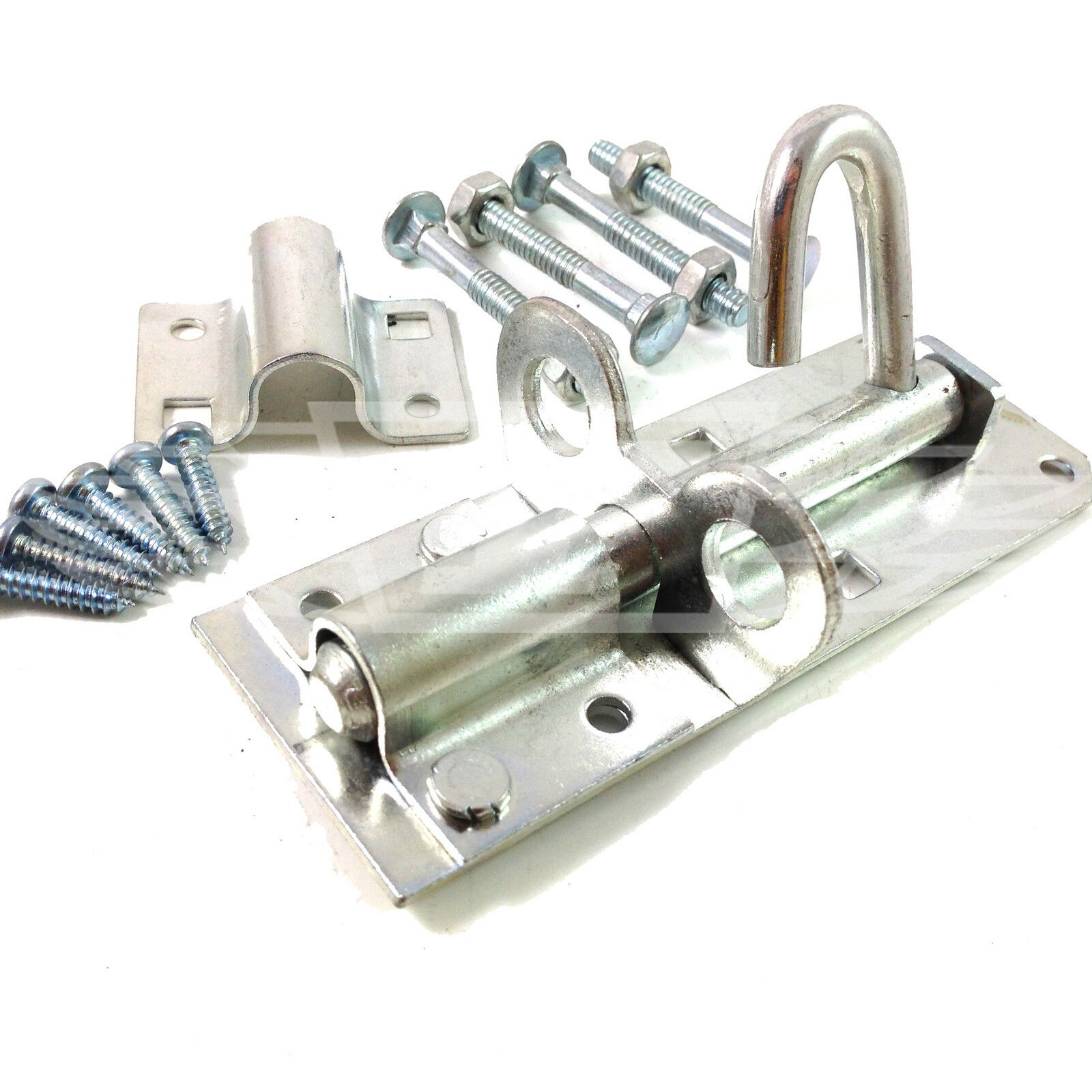 4inch Brenton Strong Sliding Padlock Shed Gate Door Bolt GALV  D30 1 x 100mm