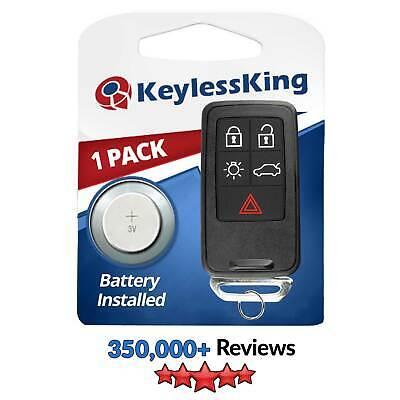 Keyless Entry Remote Car Key Fob for Volvo S60 S80 V60 V70 XC60 XC70 -