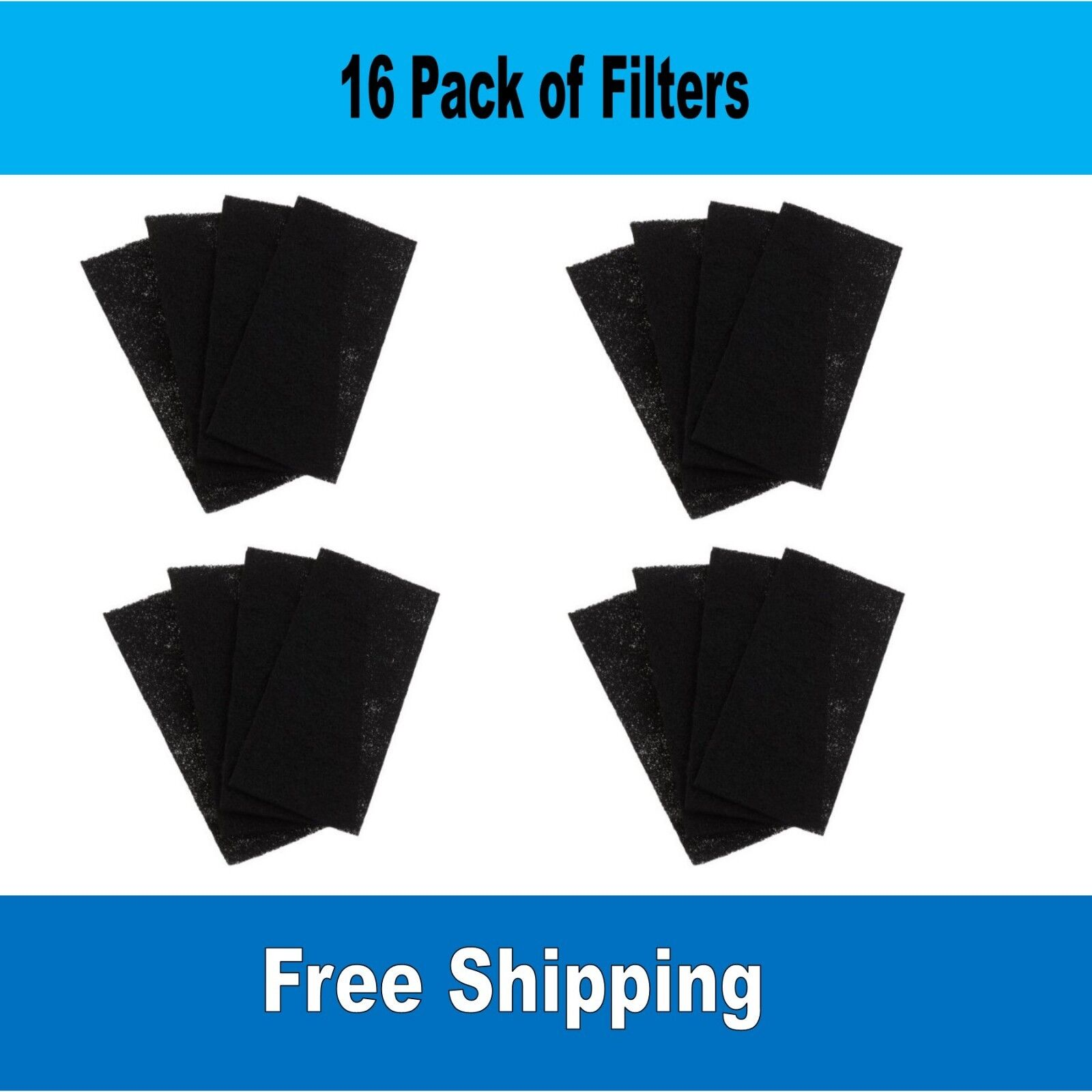 16-Pack Holmes Bionaire GE Compatible Carbon Filter HAPF60, HAPF60PDQ-U, A1260C