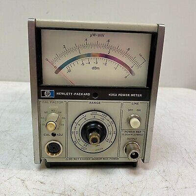 Hp 435a Analog Power Meter Used Hewlett Packard-working Unit Tested